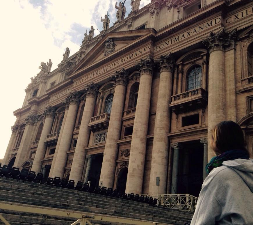jean above the clouds rom vatikan petersdom