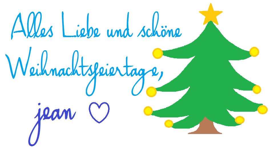 Alles Liebe und schöne Weihnachtsfeiertage