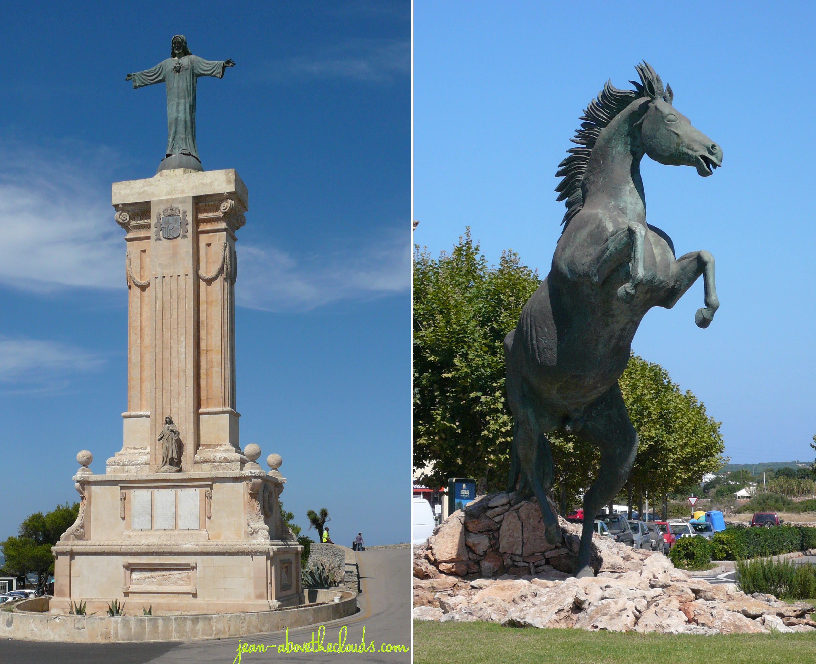 menorca statuen pferd jesus