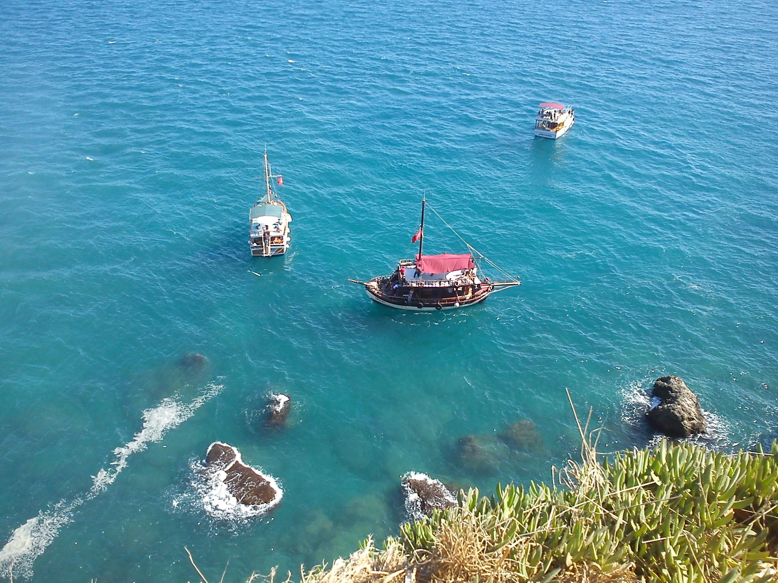 side antalya fluss schiff boot fahrt türkis