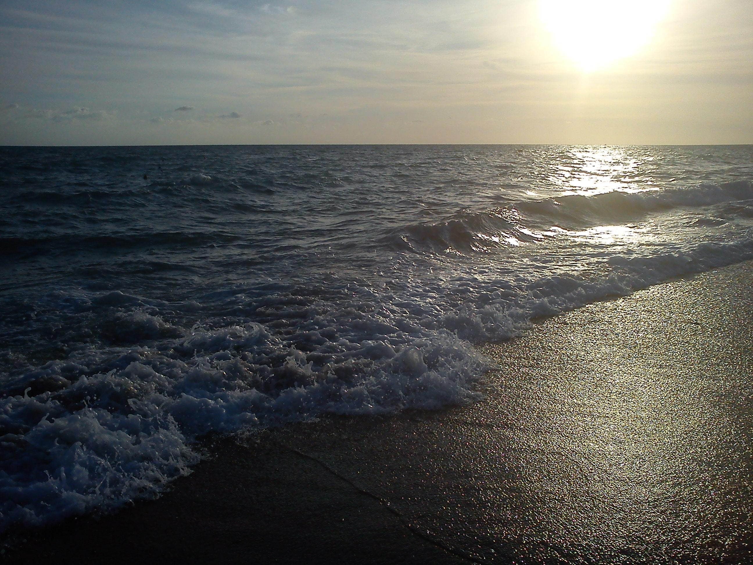 side antalya sonnenuntergang strand mittelmeer