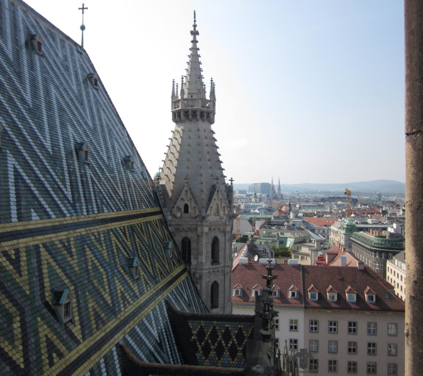 wien ausblick stephansdom domkirche st stephan jean above the clouds