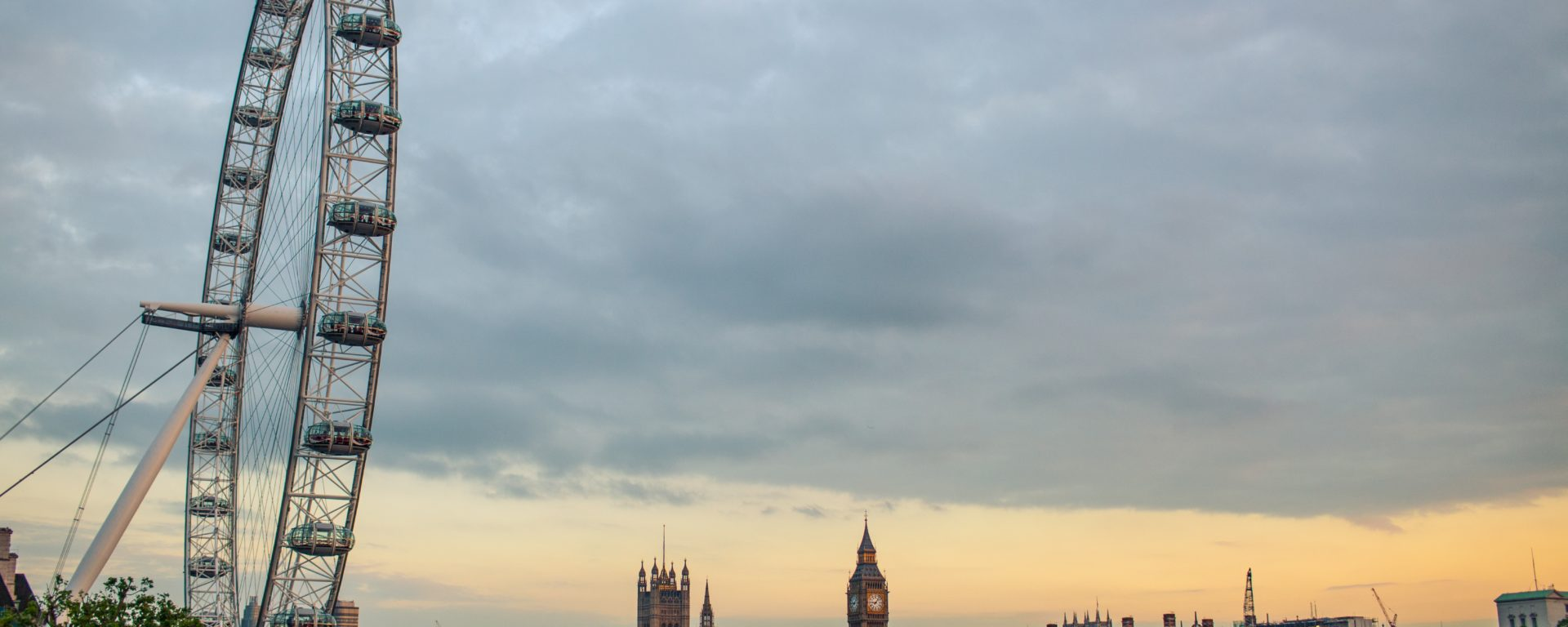 London Eye Big Ben Flugzeug stocksnap