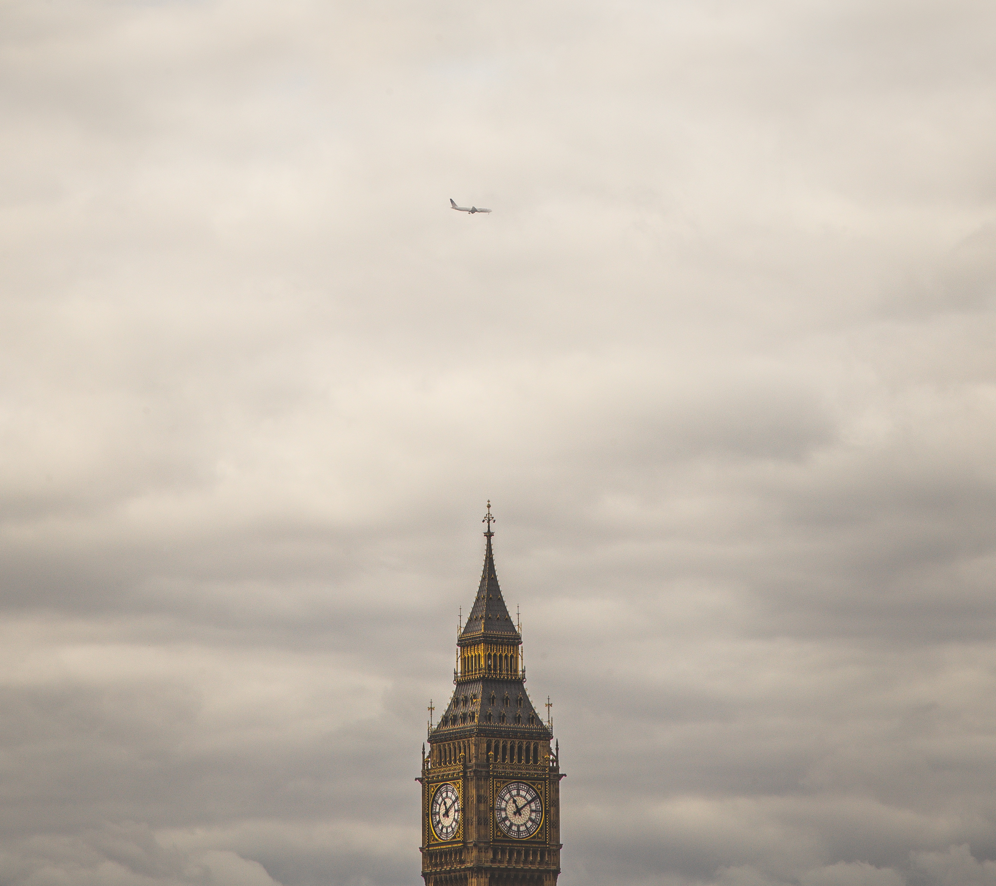 London Big Ben Flugzeug stocksnap